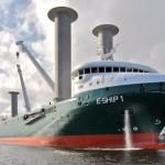 Enercon heeft vrachtschip op windenergie