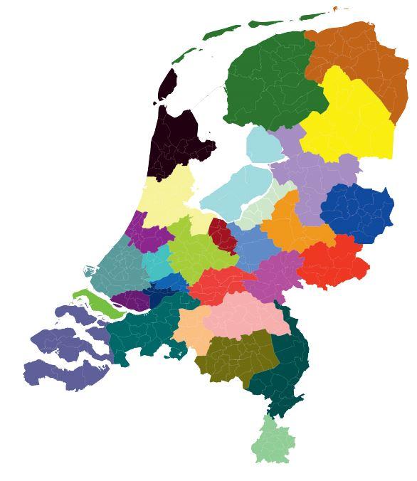Indeling regio's voor regionale energiestrategieën