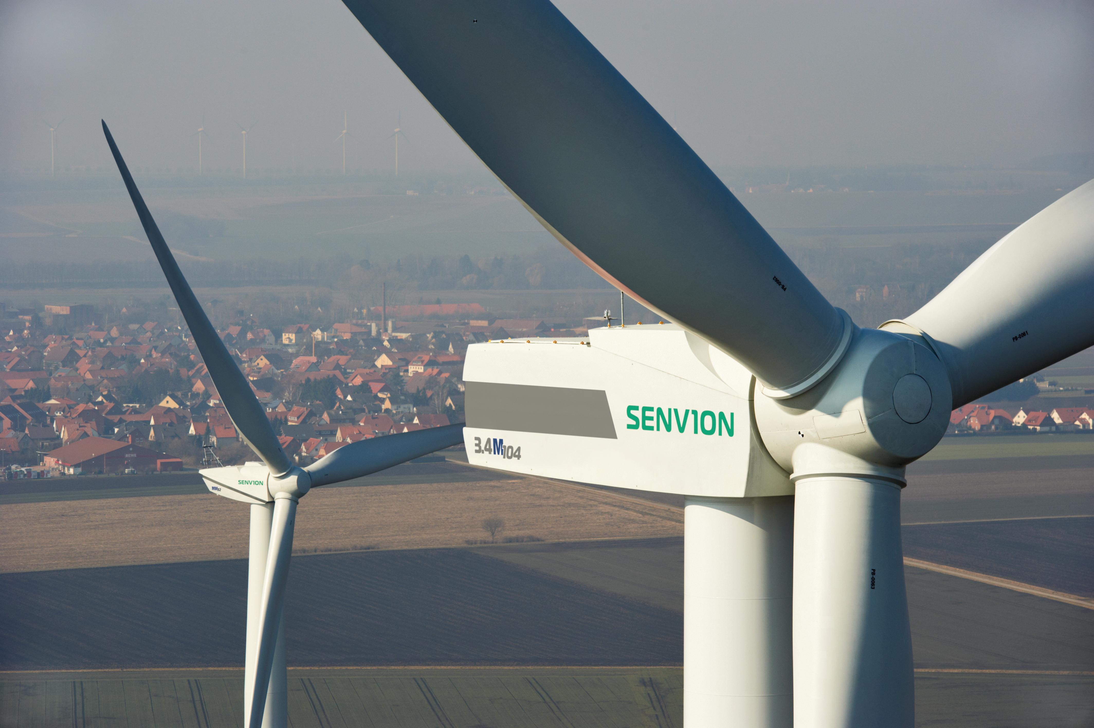 Repower 3.4M104 mit 128-Meter-Hybridturm, Clauen