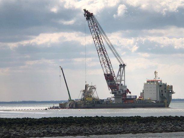 Eerste zeekabel voor verbinding Borssele Alpha bereikt land