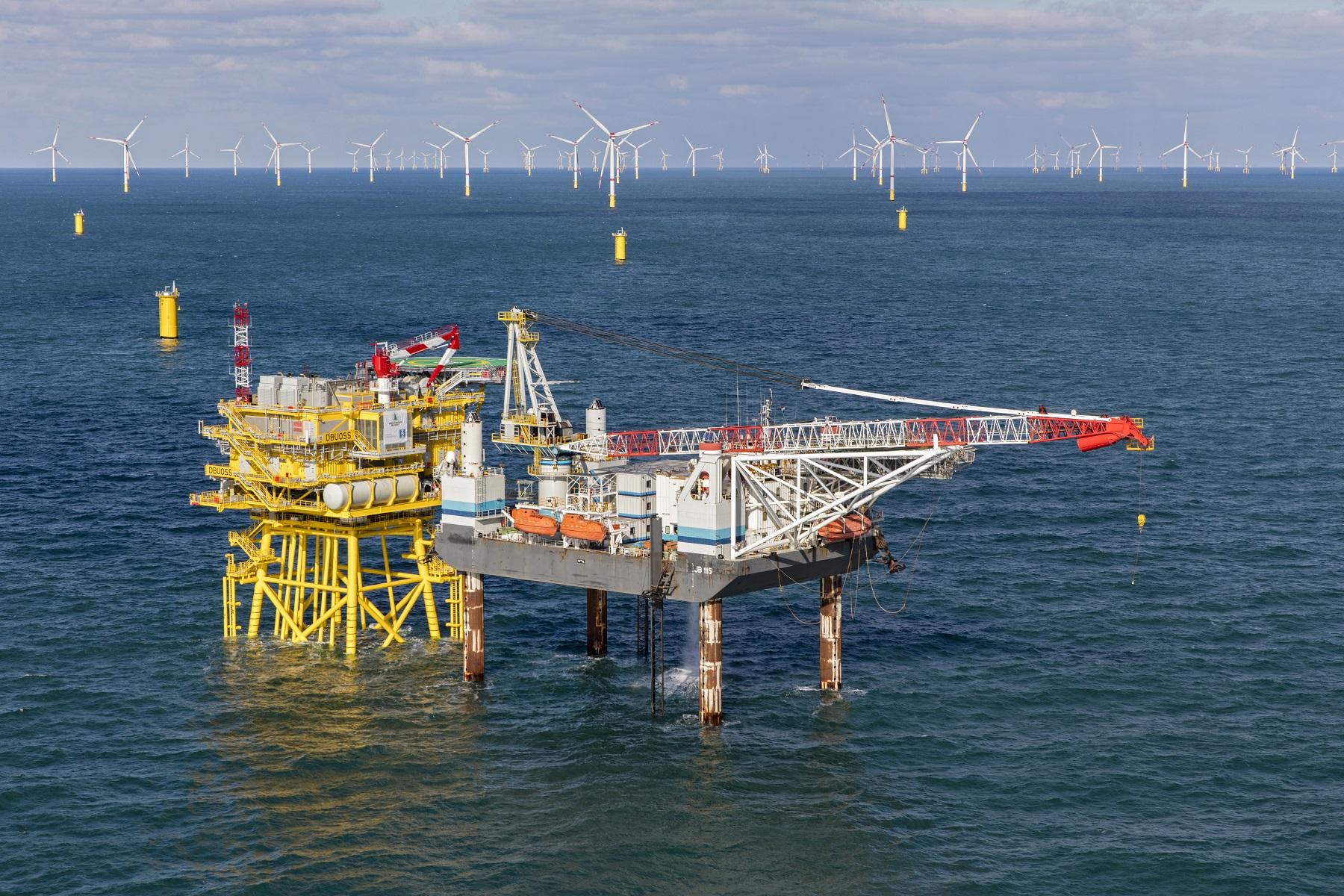 Jack Up Barge en Van Oord werken samen aan Duits offshore windpark Deutsche Bucht