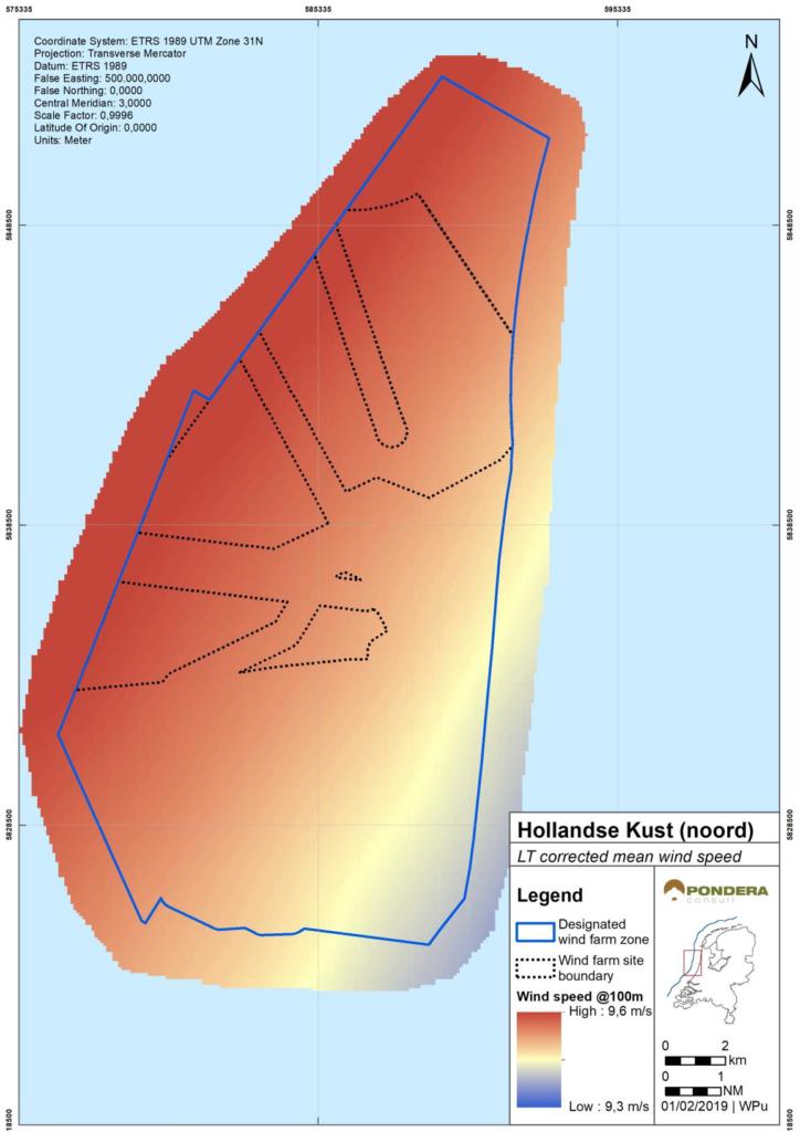 Wind Resource Assessment van Hollandse Kust (Noord) beschikbaar gesteld