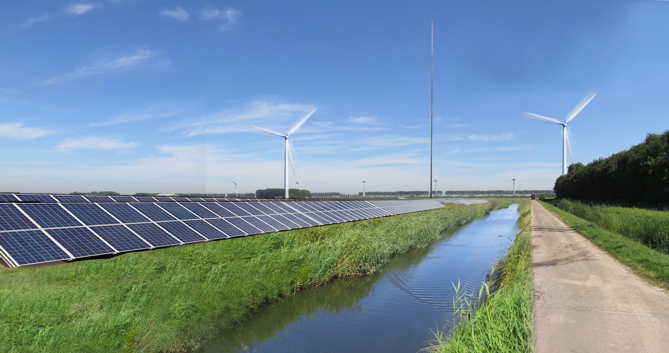 Vattenfall bouwt haar grootste Europese hybride energiepark in Goeree-Overflakkee