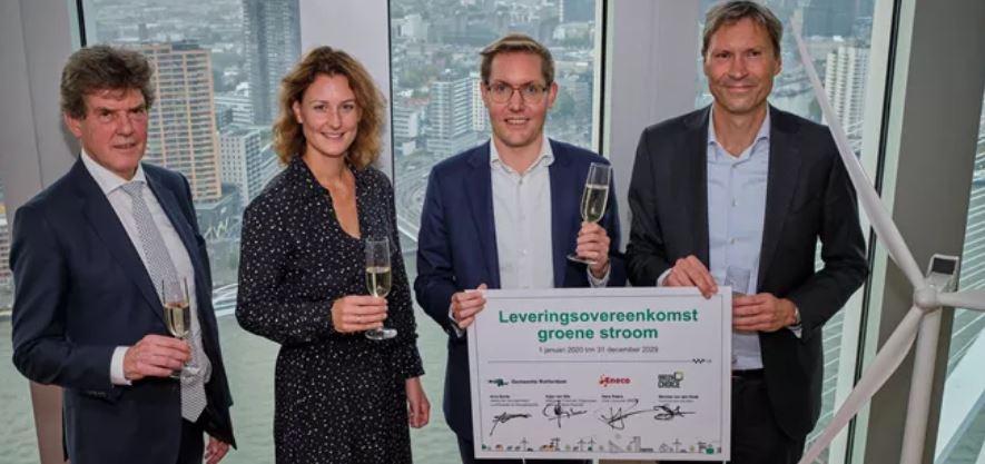 Gemeente Rotterdam stapt vanaf 2020 over op groene stroom