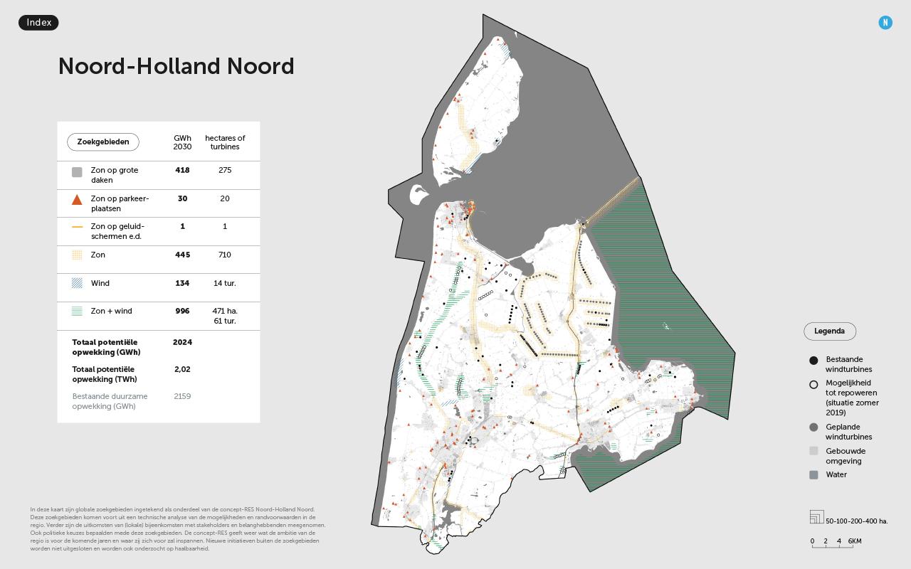 Regio Noord-Holland Noord ziet ruimte voor 75 extra windturbines tot 2030