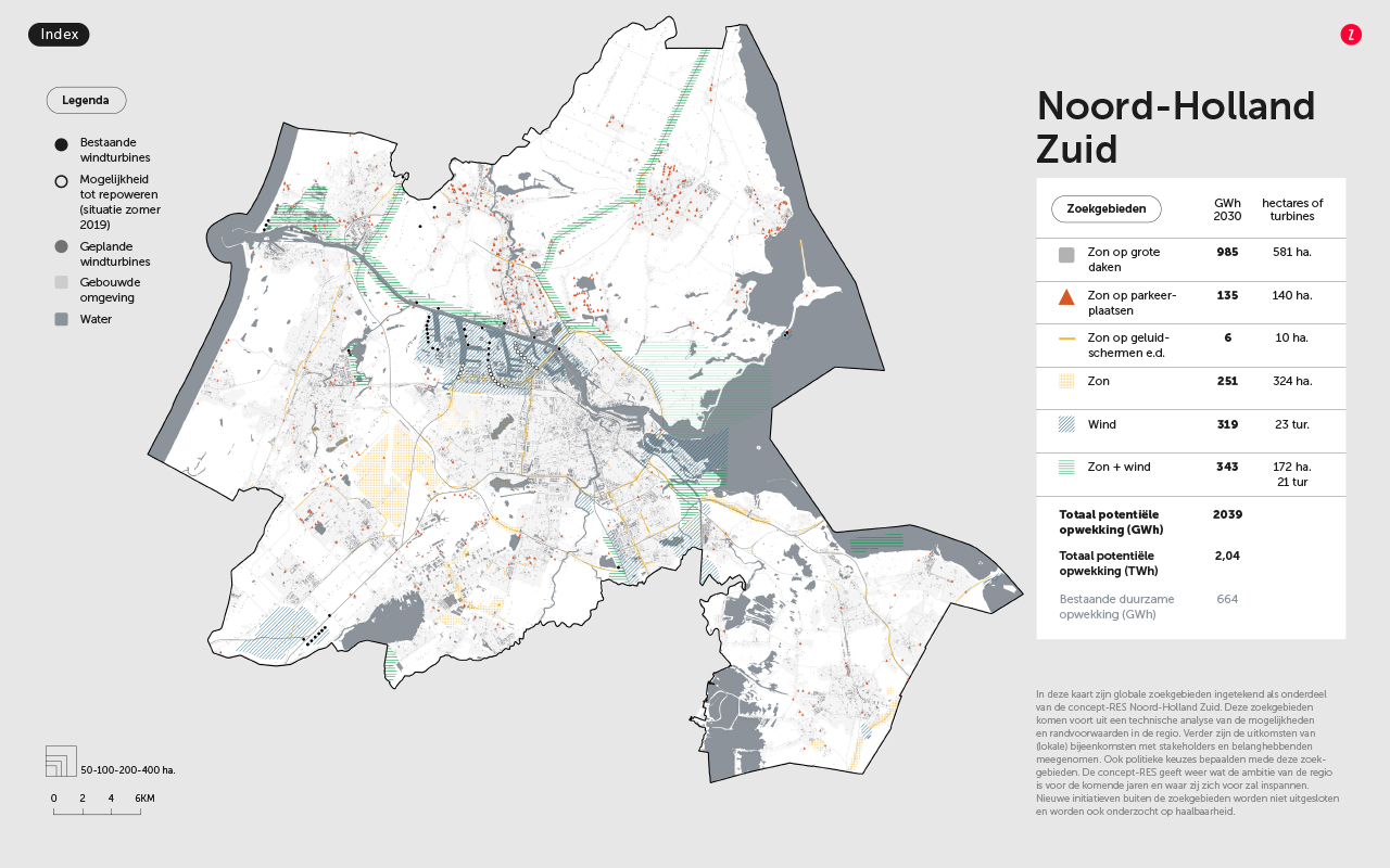 Regio Noord-Holland Zuid ambieert 44 windturbines in concept-RES