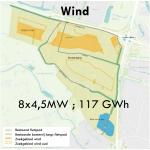 Zoekgebied wind voor energiepark Rijnenburg-Reijerscop verkleind