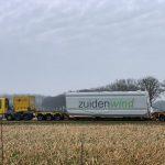 Windpark Ospeldijk transport turbines