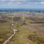 Whitelee windpark levert stroom aan groene waterstoffaciliteit