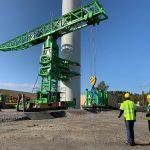 Vestas investeert in Salamander kraantechnologie dat zware hijswerken boven 200 mter ashoogte mogelijk maken