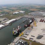 Buss Terminal Eemshaven uitvalsbasis voor bouw windturbines Hollandse Kust Noord