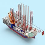 Van Oord besteld installatieschip voor volgende generatie offshore windturbines