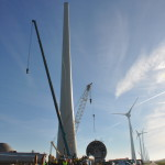 Eerste RWE windturbine van windpark Zuidwester levert stroom