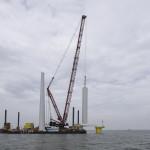 Opbouw windturbines Westermeerwind is gestart