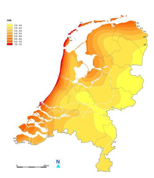 Windkaart-NL-KNMI
