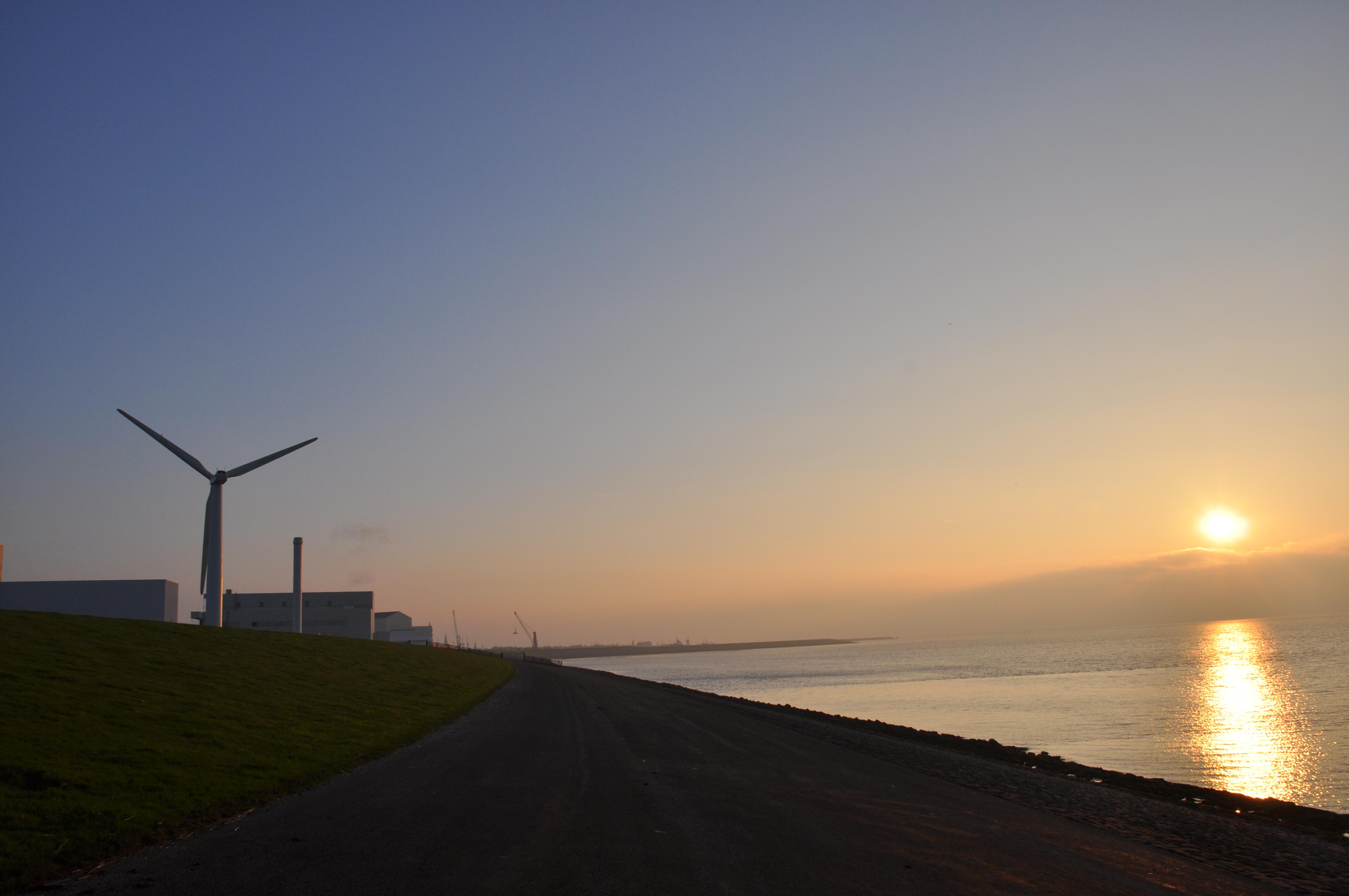 Windpowercentre Harlingen uitzicht waddenzee