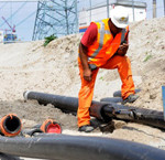 Bouw offshore windpark Luchterduinen in volle gang