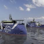 Twee speciale servicevaartuigen voor windparken Gemini en Sandbank