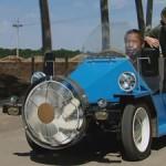 Chinees bouwt voertuig op windenergie