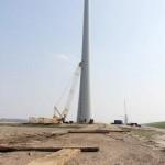 De 1e windturbine van windpark Zuidwester gaat stroom leveren